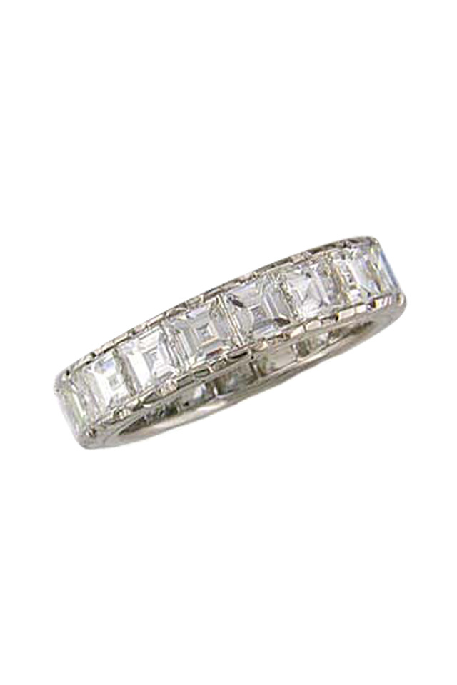 Platinum White Diamond Guard Ring