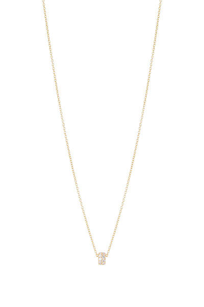 Caroline Ellen - 20K Yellow Gold Diamond Pendant Necklace