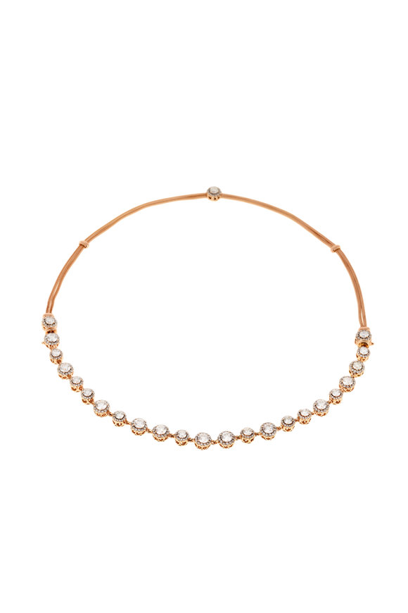 Selim Mouzannar Pink Gold Diamond Necklace/Bracelet