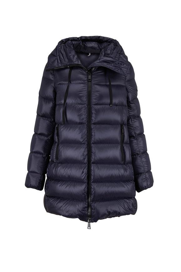 Moncler Suyen Navy Blue Long Down Puffer Coat