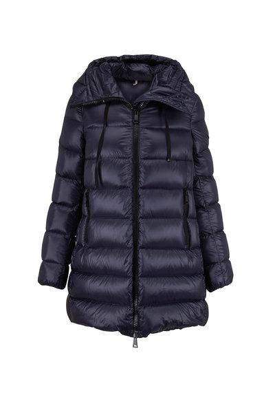 Moncler - Suyen Navy Blue Long Down Puffer Coat