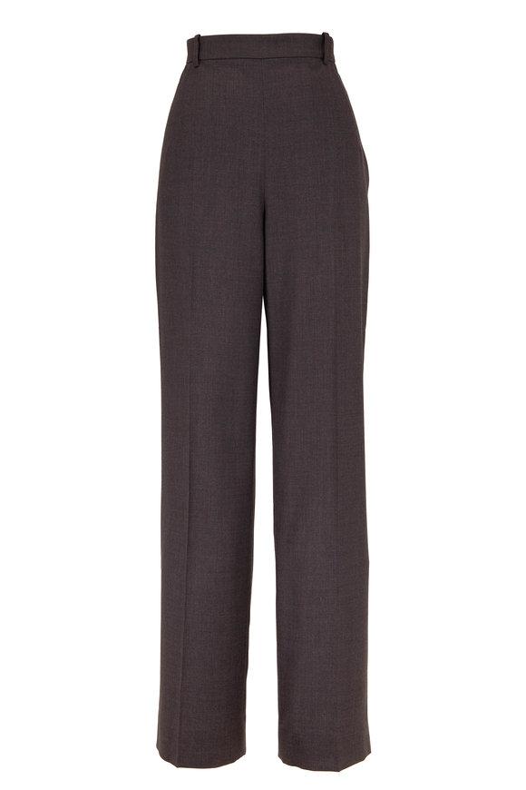 The Row Ewan Dark Grey Wool Pant