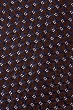 Brioni - Brown & Navy Blue Net Design Silk Necktie