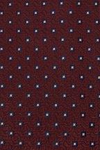 Brioni - Burlap & Blue Square Design Silk Necktie