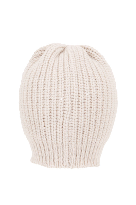 Brunello Cucinelli Warm White Paillette English Rib Hat