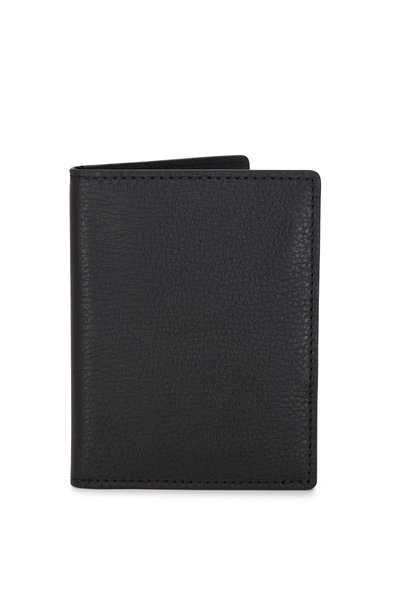 Shinola - Black Leather Passport Wallet