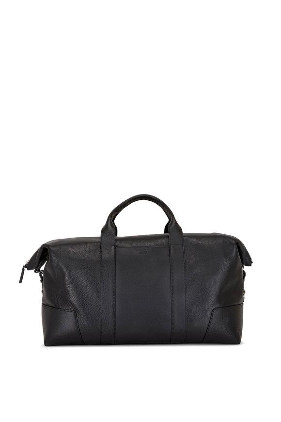 Shinola Navigator Black Leather Large Carry All Bag