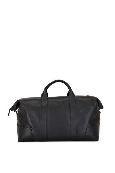 Shinola - Navigator Black Leather Large Carry All Bag