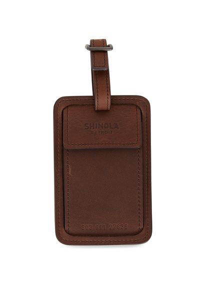 Shinola - Navigator Leather Luggage Tag