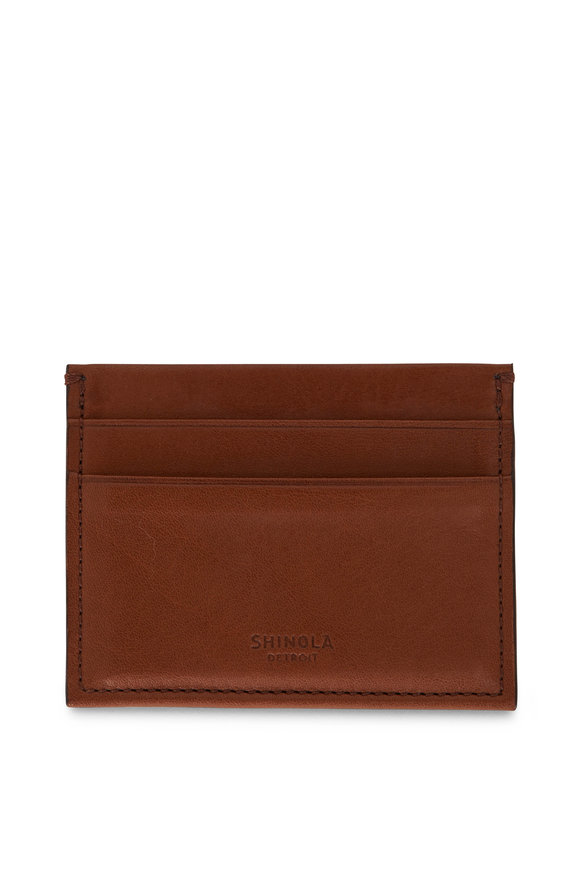 Shinola Whiskey Leather Card Case