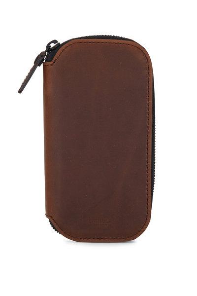 Shinola - Brown Leather Travel Watch Case
