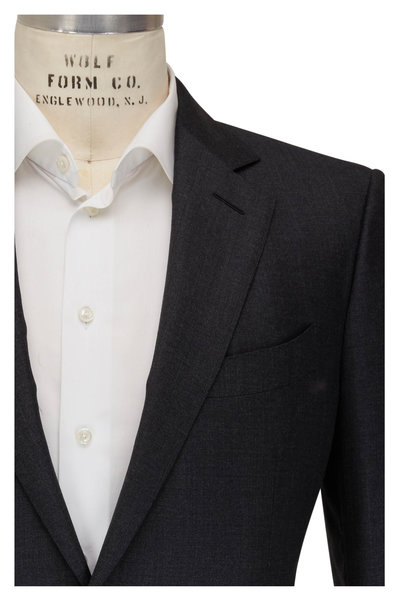 Tom Ford - Dark Grey Sharkskin Wool Suit