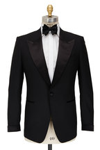 Tom Ford - Black Wool Peak Lapel Tuxedo