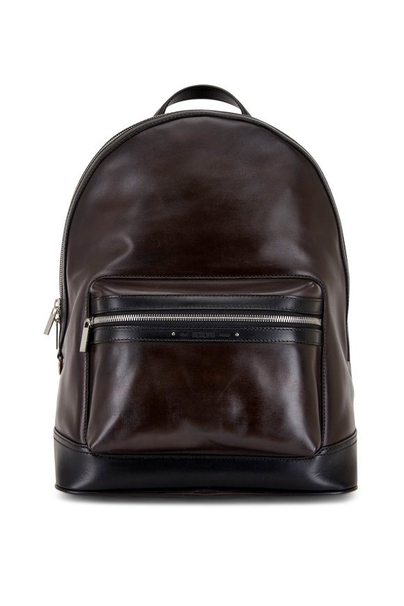 Berluti Explorer Ice Black Leather Backpack