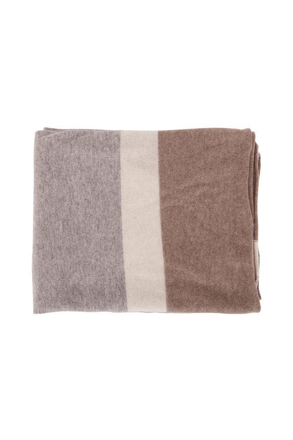 Kinross Whisper Multi Intarsia Throw Blanket