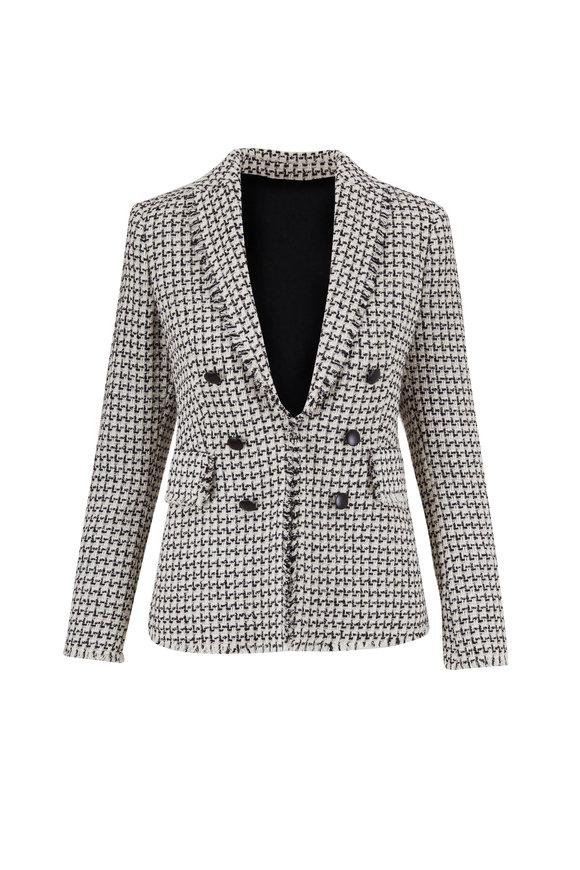 Akris Punto Black & White Light Weight Tweed Jacket