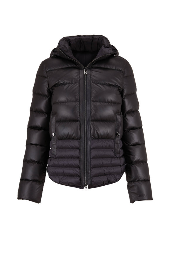 Bogner Sophie Black Quilted Leather Puffer Jacket