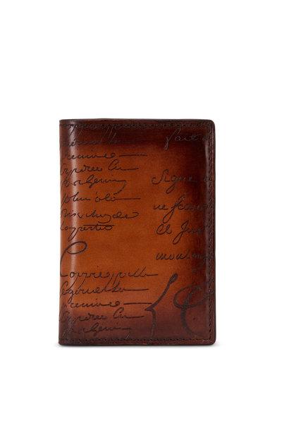 Berluti - Tobacco Jagua Scritto Leather Card Holder