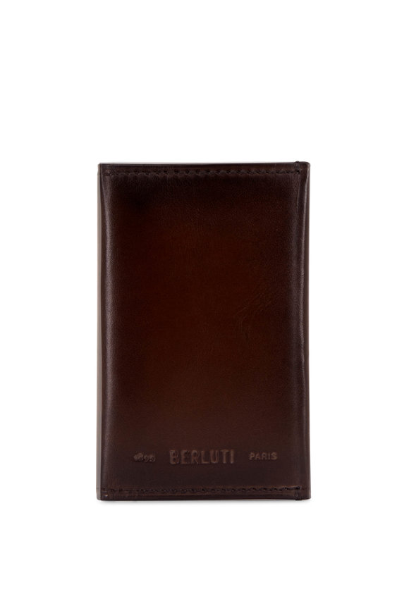 Berluti Idéal Ice Black Mini Leather Card Holder