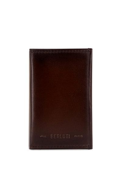 Berluti - Ice Black Idéal Mini Scritto Leather Card Holder