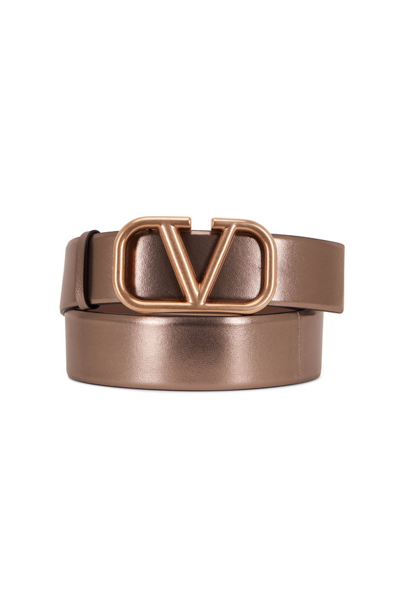 Valentino Garavani Stone Metallic Vlogo Signature Belt