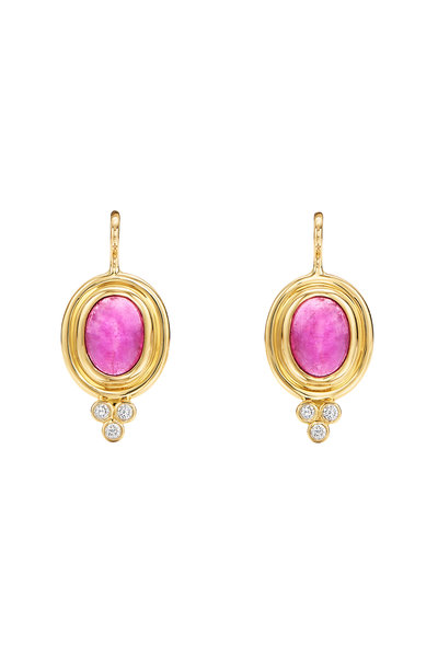 Temple St. Clair - 18K Yellow Gold Pink Tourmaline Earrings