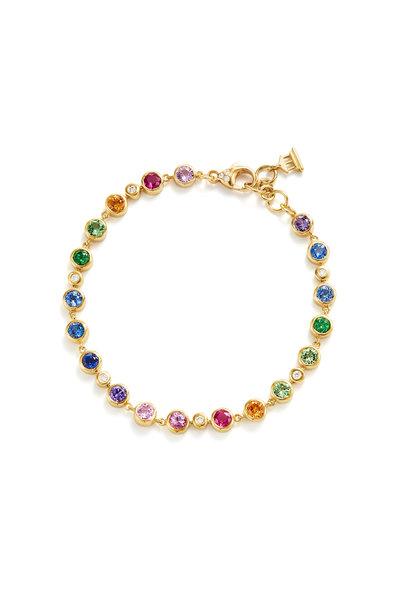 Temple St. Clair - 18K Yellow Gold Rainbow Eternity Bracelet