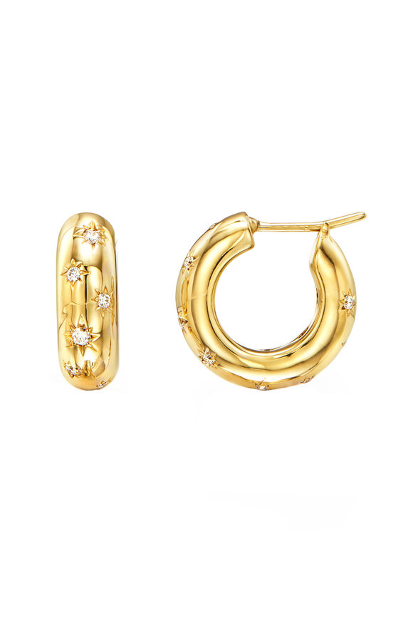Temple St. Clair 18K Yellow Gold  Diamond Cosmos Hoops