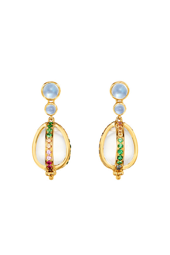 Temple St. Clair 18K Yellow Gold Rainbow Amulet Earrings