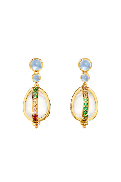 Temple St. Clair - 18K Yellow Gold Rainbow Amulet Earrings