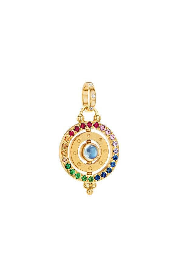 Temple St. Clair 18K  Yellow Gold Multicolor Sapphire Orbit Pendant