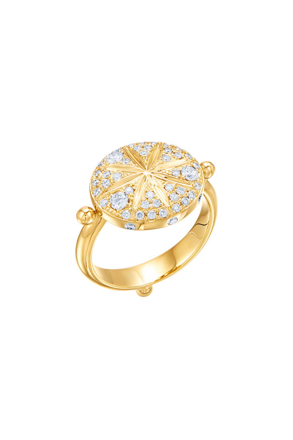 Temple St. Clair 18K Yellow Gold Diamond Sorcerer Ring