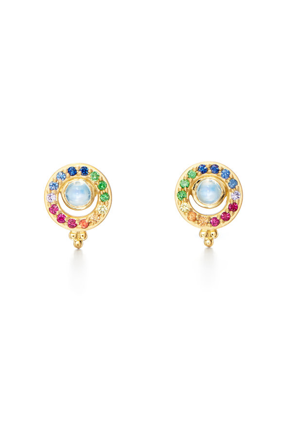 Temple St. Clair Multicolor Sapphire & Moonstone Earrings