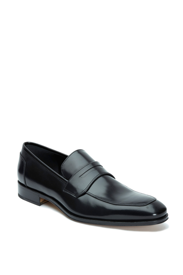Lionel Black Leather Penny Loafer