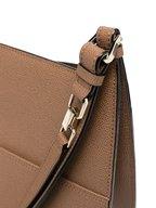 Valextra - Weekend Dark Taupe Leather Medium Hobo Bag