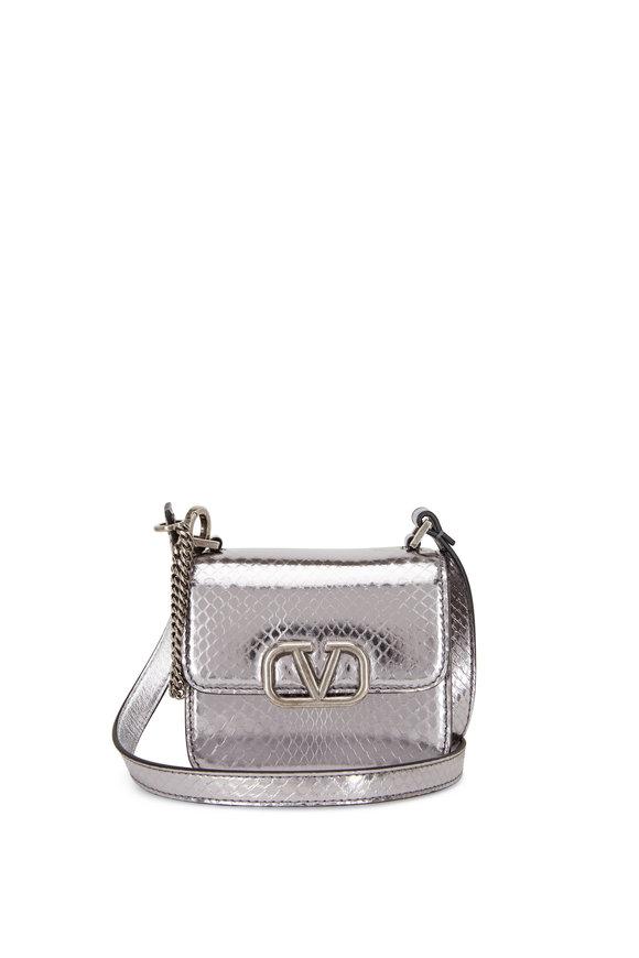 Valentino Garavani Micro VSLING Antique Silver Shoulder Bag