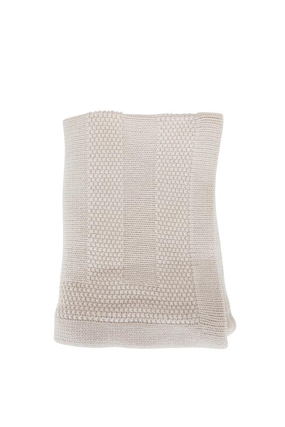 Brunello Cucinelli Oat Wool & Cashmere Crochet Blanket