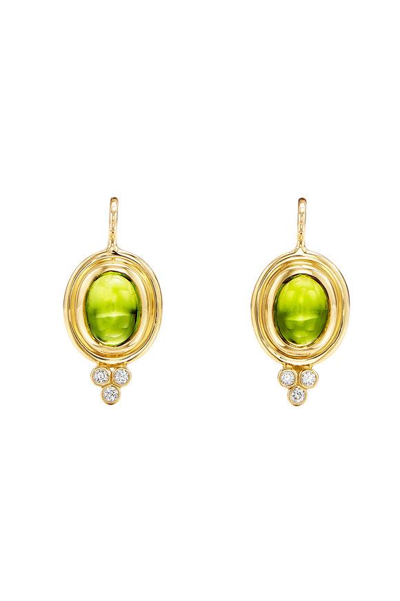 Temple St. Clair 18K Yellow Gold Classic Peridot Earrings