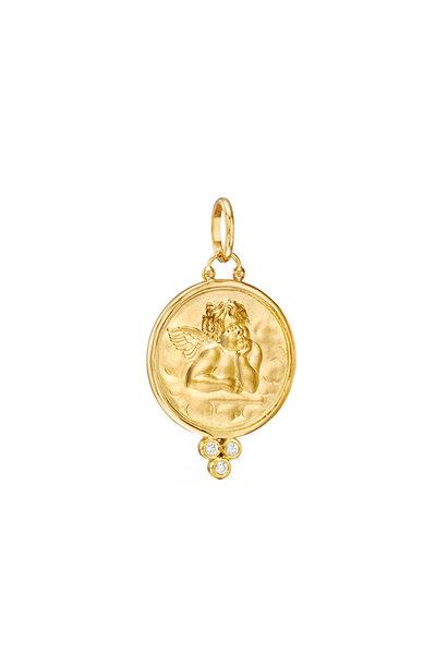 Temple St. Clair - 18K Yellow Gold Angel Diamond Pendant