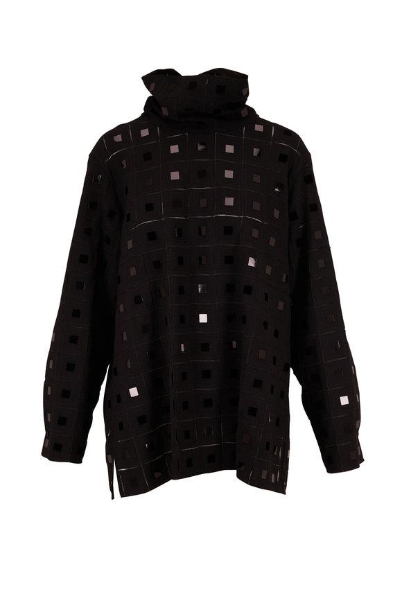 Akris Black Mirrored Turtleneck Tunic