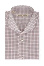 Maurizio Baldassari - Brown, White, & Blue Mini Plaid Sport Shirt