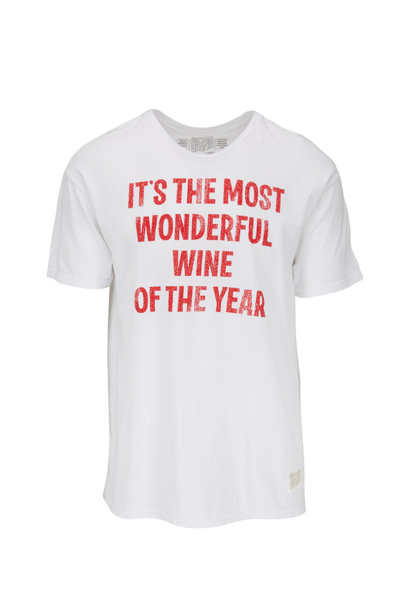 Retro Brand White Most Wonderful Time Graphic T-Shirt