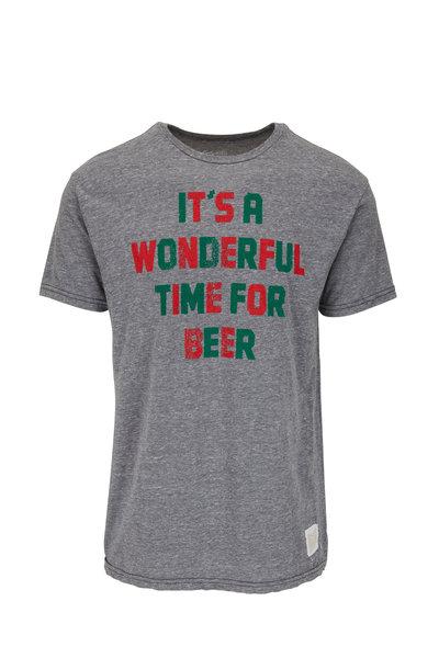 Retro Brand - Gray, Red, & Green Graphic T-Shirt