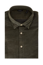 Faherty Brand - Olive Green Cotton Corduroy Sport Shirt