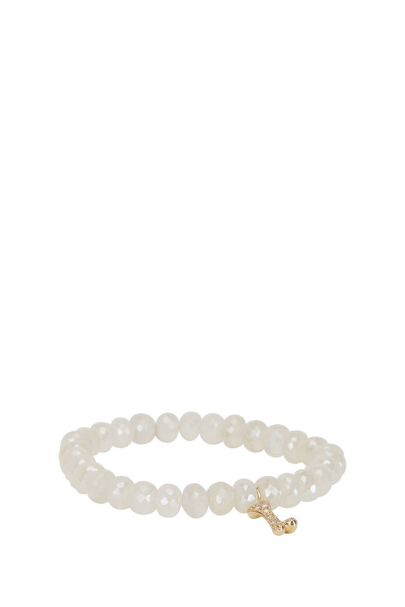 Sydney Evan Dog Bone Charm Bead Bracelet