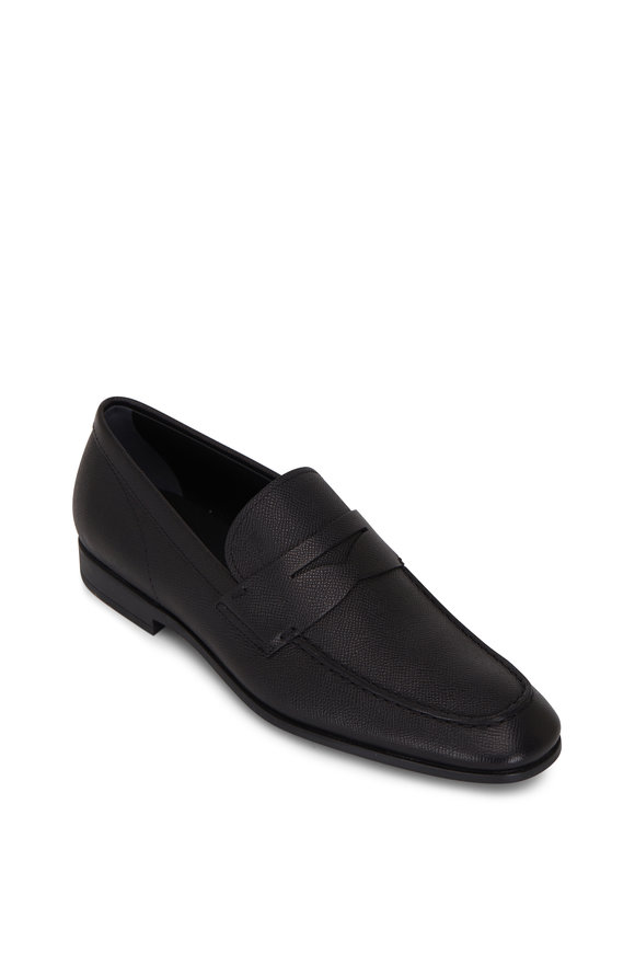 Tod's Slim Mocassino Black Leather Loafer
