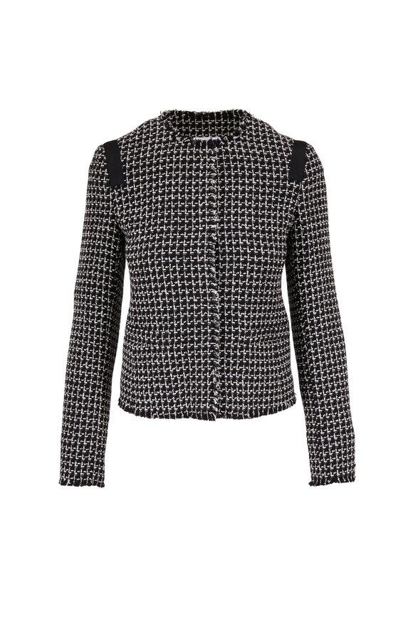 Akris Punto Black & White Tweed Jacket