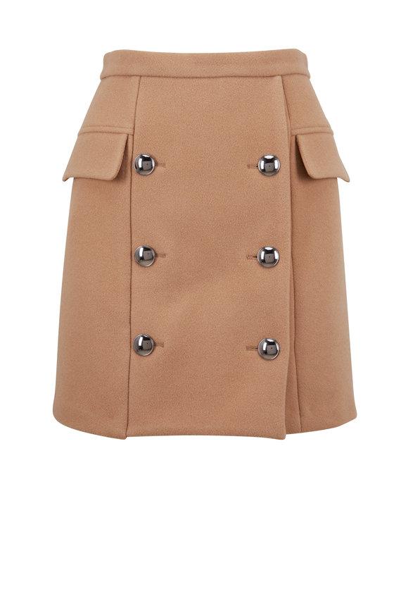 Dorothee Schumacher New Iconic Dark Caramel Stretch Wool Skirt