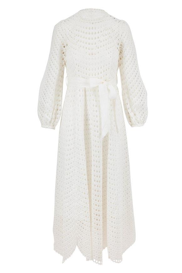Zimmermann Ivory Poppy Eyelet Midi Dress