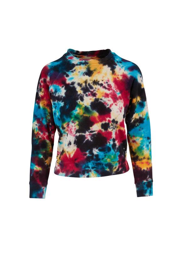 Mother Denim The Square Tie Dyed Crewneck Sweatshirt